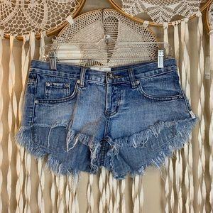 One Teaspoon Bonitas Cut Off Shorts size 26